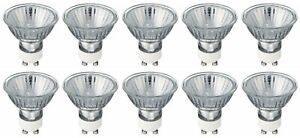 Halogen Lamps 50W 240V GU10 Clear Dimmable 36° Beam, Pack of 10