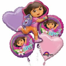 Dora The Explorer Birthday Foil 5pcs Balloons Bouquet