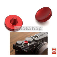 2x RED CONCAVE SOFT SHUTTER RELEASE BUTTON FOR FUJI X100 100S LEICA M4 M6 M7