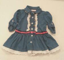 Little Lass Boutique Western Dress Tunic Top Blue Jean Denim Toddler Girls 3T