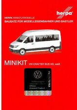 HERPA Modell 1:87/H0 MINIKIT VW Crafter Bus Hochdach, weiß Bausatz #013598
