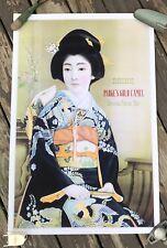 """Parke's Gold Camel Geisha Poster Tea Vintage Arte numbered 24"""" x 36"""""""