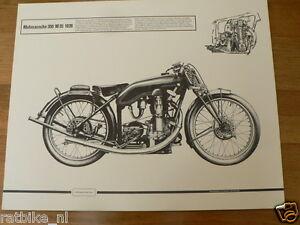 HELMUT KRACKOWIZER RENNMOTORRAD POSTER MOTOSACOCHE 350 M35 1928 MOTORCYCLE
