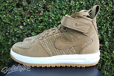 NIKE LUNAR FORCE 1 FLYKNIT WORKBOOT SZ 10 DUCKBOOT WHEAT FLAX 855984 200