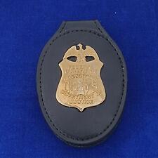 FBI  Abzeichen / Badge mit Lederhalter