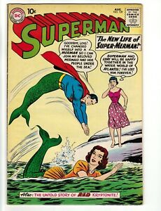 Superman #139 August, 1960, The New Life of Super Merman VF+