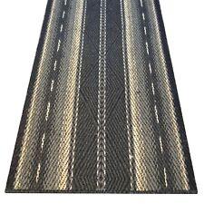"""SALE ! Echter KOKOS Läufer """"ROMBO U"""" 68 cm breiter Naturfaser Teppich graphit"""