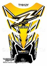 Yamaha YZF R1 / R6 Yellow Black Motorcycle Tank Pad Motografix 3D Gel Protector