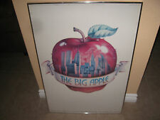 """NEW YORK VINTAGE""""THE BIG APPLE"""" 1976 POSTER W/THE TWIN TOWERS. WITHOUT FRAME!"""