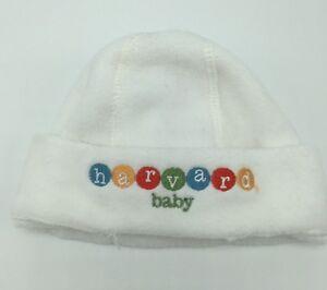 Harvard University Baby White Newborn Fleece Stocking Cap Hat Baby Shower Gift