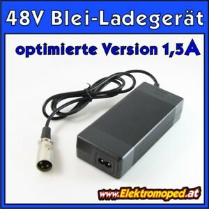 Ersatzteil Elektro-Scooter 48V 1,5A optimiertes Blei-Ladegerät Output 57,6V Blei
