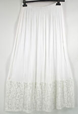 GORGEOUS COTTON  SARAH SANTOS white LACE TRIM PETTICOAT/ SKIRT SZ XXL/XXXL