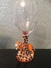 Disney Sheer Khan Figure Wine Glass xx The Jungle Book xx Tiger xx SALE xx