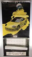 1993 PPG Dodge Pace Car Auto Calendar Poster Body Shop Madison WI Man Cave Shop