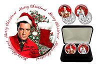 Elvis Presley - Seasons Greetings Colorized JFK Kennedy Half Dollar Coins