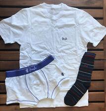 Pringle Mens TShirt, Socks and Boxer Gift Box - White - Small - G3000