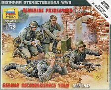 Zvezda 1/72 Figures - German Reconnaissance Team 1939 - 1942 Z6153