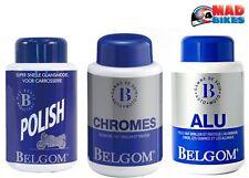 Belgom Alu, chrom, Polish 3 Flaschen-Set für Motorrad Chrom, Aluminium und Farbe