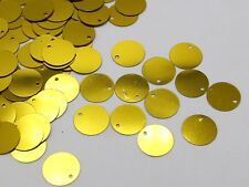 700 Gold 16mm Flat Round Loose sequins Paillettes Top Hole Sewing Wedding Craft