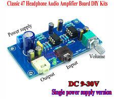 Classic 47 Headphone Audio Amplifier Board DIY Kits NE5532 OP AMP DC 9-30V