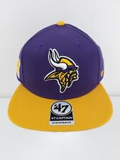 678f98a419cfb Minnesota Vikings 47 Brand Strapback Hat Super Shot Two Tone Captain NFL