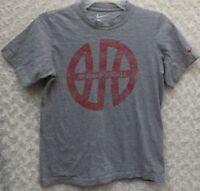 Nike Boy's Size Medium Basketball Short Sleeve Gray T-Shirt
