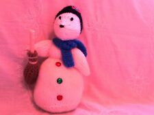 NEW HAND KNITTED SNOW MOUSE TOY  DESIGNED BY ALAN DART