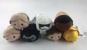 Lot Of 7 Disney Star Wars Tsum Tsum Mini Character Collectible Plush Toys