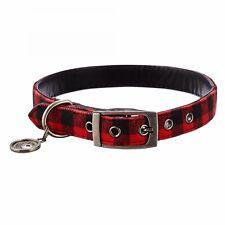Bond & Co. Buffalo Checkered Dog Collar, For Neck Sizes 18-21, Large/Extra Large