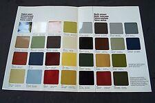 1977 Mercedes 450SL Owners sales brochure Paint color Chart w107 w116  w123