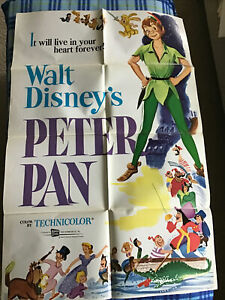 VINTAGE MOVIE POSTER THEATER ORIGINAL 1969 R69 DISNEY PETER PAN SO NICE