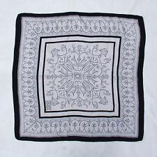LUCIANO SOPRANI Vintage foulard Flowers Fantasy Design kerchief 100% Silk SuPER