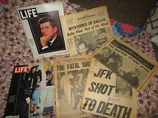 AUTHENTIC JOHN F KENNEDY MAGAZINES & NEWSPAPERS THE NATION STOOD STILL