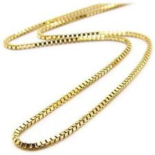 14k Gold Plated Stainless Steel 24in Length Box Chain