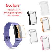 Caso de TPU Cover Concha protectora Protector de pantalla For Fitbit Charge 3