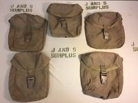lot of 5 USMC IFAK Individual First Aid Kit MOLLE Pouch Coyote Brown Good USGI