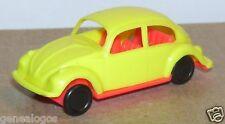 CGGC PEZ ITALY 1/72 NO HO VW VOLKSWAGEN MAGGIOLINO JAUNE CHASSIS ORANGE