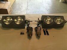 1964-7 new headlight assys with restored original motors