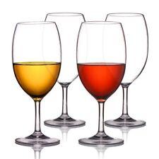 Michley Unbreakable Wine Glasses, 100% Tritan Plastic Shatterproof Wine Glasses,
