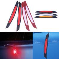 4x Red Universal Car Wheel Rim Reflective Warning Strip Sticker Safety Light