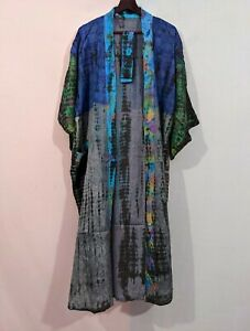 Pure silk robe,Tie dye kimono,Kimono cardigan, Women's clothing, Kimono #PSK 353