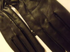 Gants en cuir gloves Leather noir black L Sun valley Neuf New