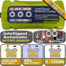 12 V 6v 5.3 un Automático Inteligente Smart plomo ácido Gel 5-120ah Cargador de batería