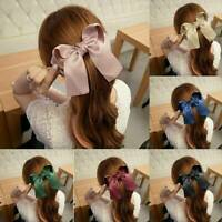 Korean Style Women Girls Hairpin Hair Clip Ribbon Large Bow Knot Clip Barrette