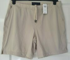 Abercrombie & Fitch Cream Tie Shorts- Size L RRP £52