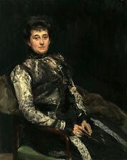 "Oil painting Maria Teresa Moret y Remisa, the wife of Beruete woman sitting 36"""