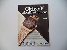advertising Pubblicità 1979 OROLOGIO CITIZEN QUARTZ DIGI-ANA