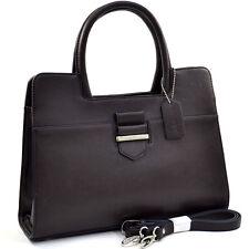New Dasein Women Leather Handbag Briefcase Office Satchel Shoulder Bag Purse