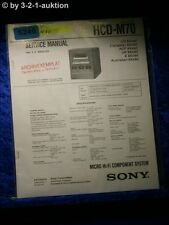 Sony Service Manual HCD M70 Micro Component System (#5246)