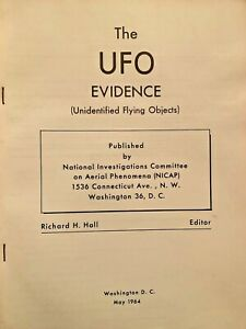 1964 secret The UFO Evidence report by Richard Hall hundreds of incidents 184 pg